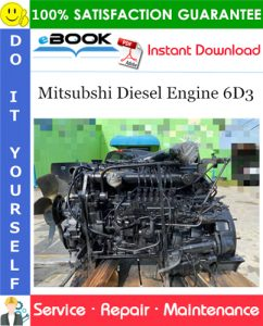Mitsubshi Diesel Engine 6D3 Service Repair Manual (For industrial use)