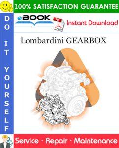 Lombardini GEARBOX Service Repair Manual