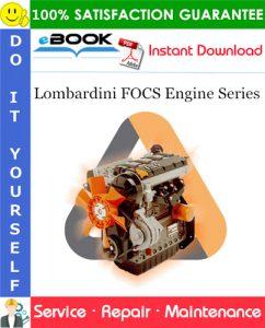 Lombardini FOCS Engine Series Service Repair Manual