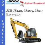 JCB JS140, JS205, JS215 Excavator Operator's Manual