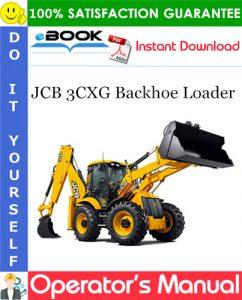 JCB 3CXG Backhoe Loader Operator's Manual