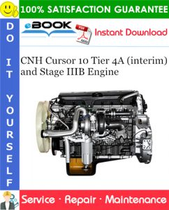 CNH Cursor 10 Tier 4A (interim) and Stage IIIB Engine Service Repair Manual