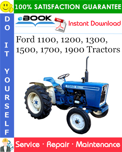 Ford 1100  1200  1300  1500  1700  1900 Tractors Service