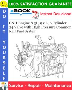 CNH Engine 8.3L, 9.0L, 6 Cylinder, 24 Valve with High Pressure Common Rail Fuel System