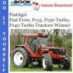 FiatAgri Fiat F100, F115, F130 Turbo, F140 Turbo Tractors Winner Operator's Manual