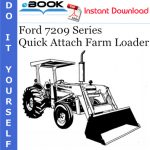 Ford 7209 Series Quick Attach Farm Loader Operator's Manual