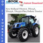 New Holland TS100A, TS115A, TS125A, TS135A Plus/Deluxe Tractor Parts Catalog