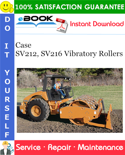 Case Sv212  Sv216 Vibratory Rollers Service Repair Manual