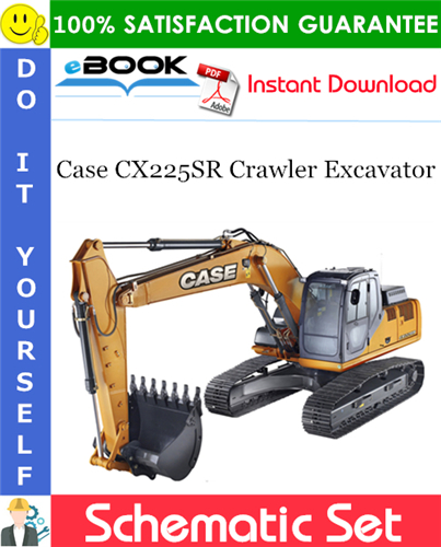 Case CX225SR Crawler Excavator Schematic Set