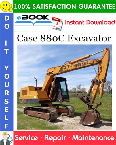 Case 880C Excavator Service Repair Manual