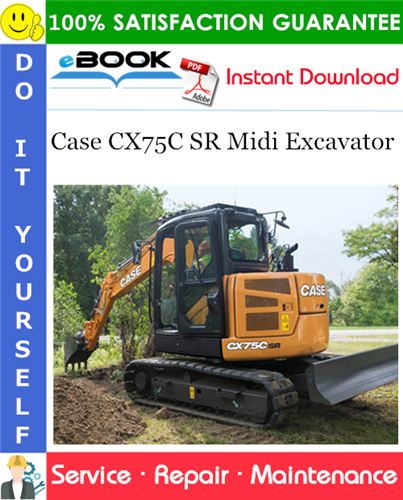 Case CX75C SR Midi Excavator Service Repair Manual