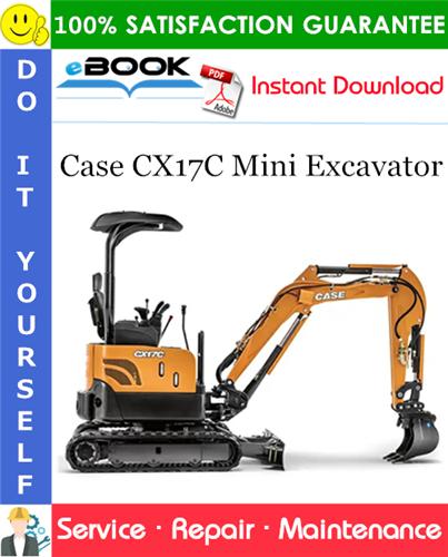 Case CX17C Mini Excavator Service Repair Manual