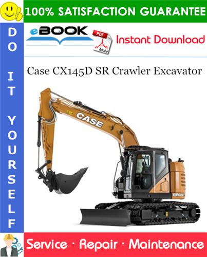 Case CX145D SR Crawler Excavator Service Repair Manual (NA Market)