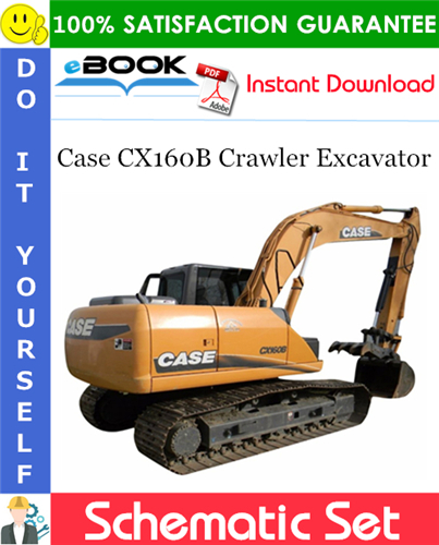 Case CX160B Crawler Excavator Schematic Set