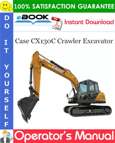 Case CX130C Crawler Excavator Operator's Manual (Brazil Market)