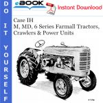 Case IH M, MD, 6 Series Farmall Tractors, Crawlers & Power Units