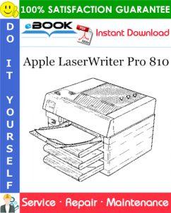 Apple LaserWriter Pro 810 Service Repair Manual