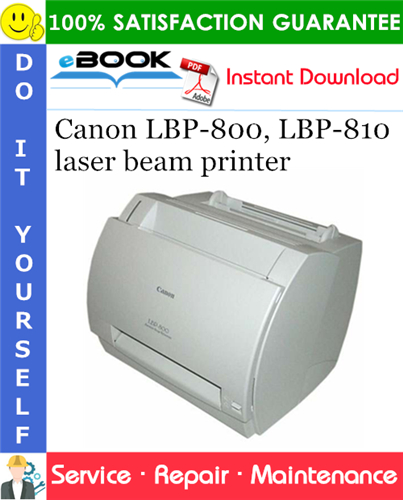 Canon LBP-800, LBP-810 laser beam printer Service Repair Manual + Parts Catalog + Circuit Diagram