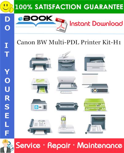 Canon BW Multi-PDL Printer Kit-H1 Service Repair Manual