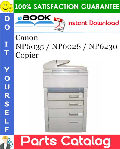 Canon NP6035 / NP6028 / NP6230 Copier Parts Catalog Manual
