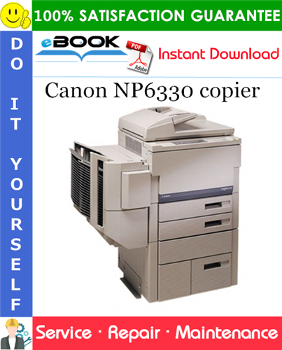 Canon NP6330 copier Service Repair Manual + Service Handbook + Parts Catalog