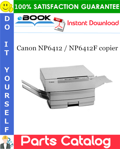 Canon NP6412 / NP6412F copier Parts Catalog Manual