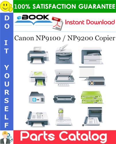Canon NP9100 / NP9200 Copier Parts Catalogue Manual