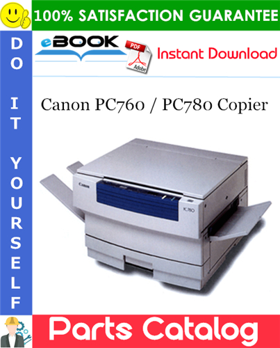 Canon PC760 / PC780 Copier Parts Catalog Manual