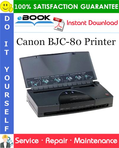 Canon BJC-80 Printer Service Repair Manual