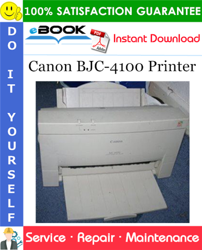 Canon BJC-4100 Printer Service Repair Manual