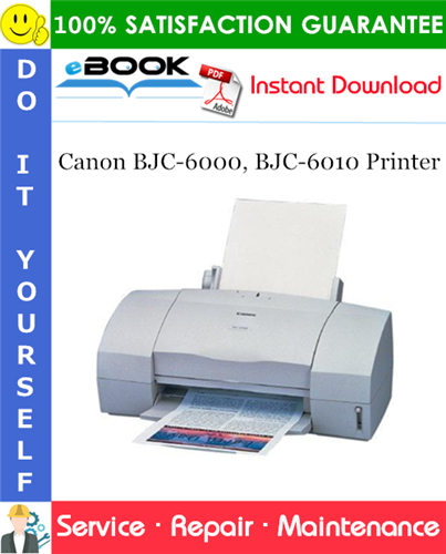 Canon BJC-6000, BJC-6010 Printer Service Repair Manual