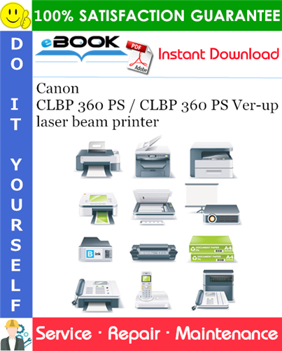 Canon CLBP 360 PS / CLBP 360 PS Ver-up laser beam printer Service Repair Manual