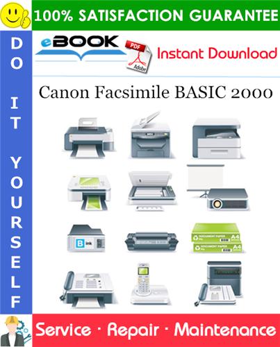 Canon Facsimile BASIC 2000 Service Repair Manual