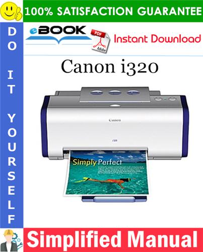 Canon i320 Simplified Manual