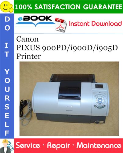 Canon PIXUS 900PD/i900D/i905D Printer Service Repair Manual