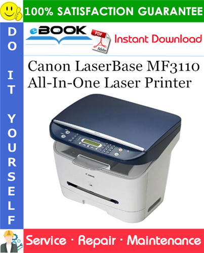 Canon LaserBase MF3110 All-In-One Laser Printer Service Repair Manual