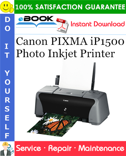 Canon PIXMA iP1500 Photo Inkjet Printer Service Repair Manual
