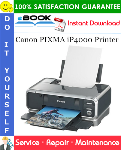 Canon PIXMA iP4000 Printer Service Repair Manual