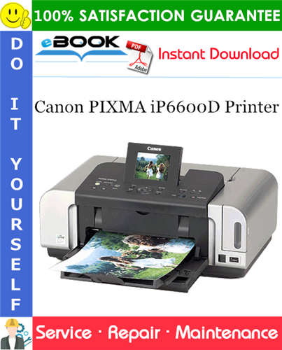 Canon PIXMA iP6600D Printer Service Repair Manual
