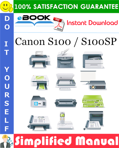 Canon S100 / S100SP Simplified Manual