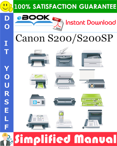 Canon S200/S200SP Simplified Manual
