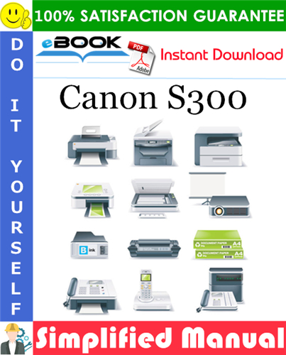 Canon S300 Simplified Manual