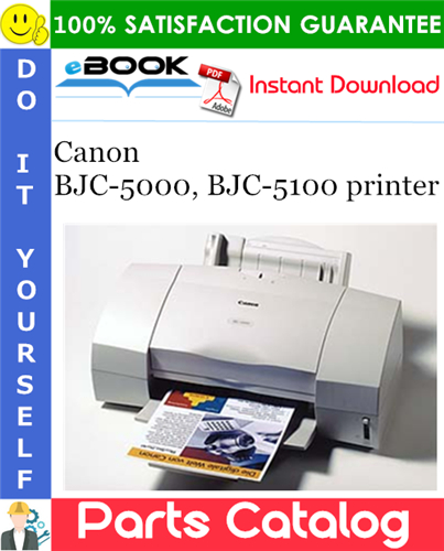 Canon BJC-5000, BJC-5100 printer Parts Catalog Manual