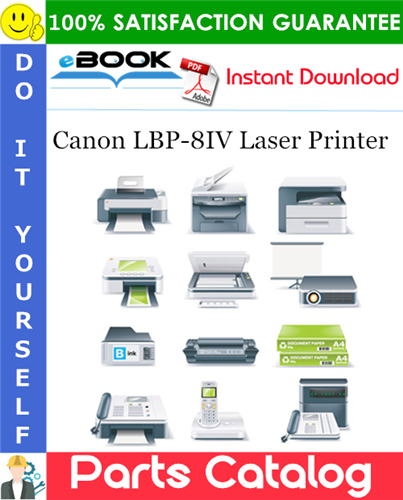 Canon LBP-8IV Laser Printer Parts Catalog Manual