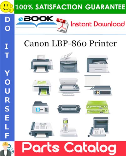 Canon LBP-860 Printer Parts Catalog Manual