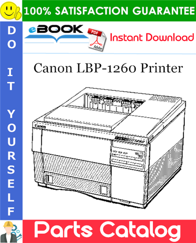 Canon LBP-1260 Printer Parts Catalog Manual