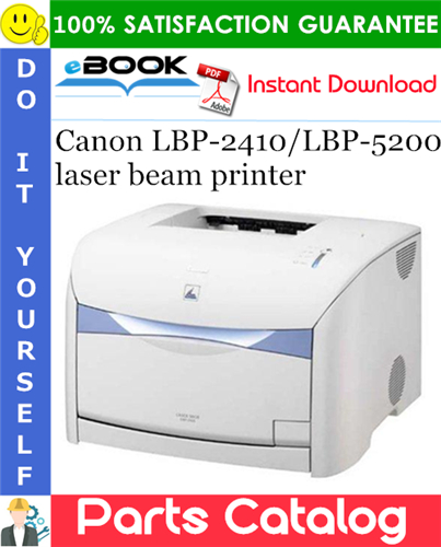 Canon LBP-2410/LBP-5200 laser beam printer Parts Catalog Manual