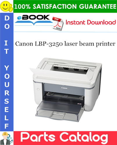 Canon LBP-3250 laser beam printer Parts Catalog Manual