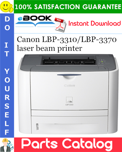 Canon LBP-3310/LBP-3370 laser beam printer Parts Catalog Manual