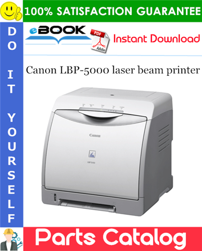 Canon LBP-5000 laser beam printer Parts Catalog Manual